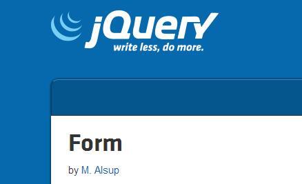 jquery插件jquery.form.js API简介