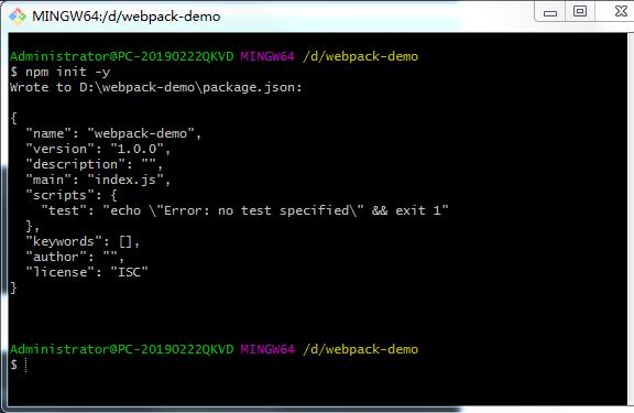 webpack v4.30.0(5)官方说明文档起步(tree shaking章节承接起始章节)