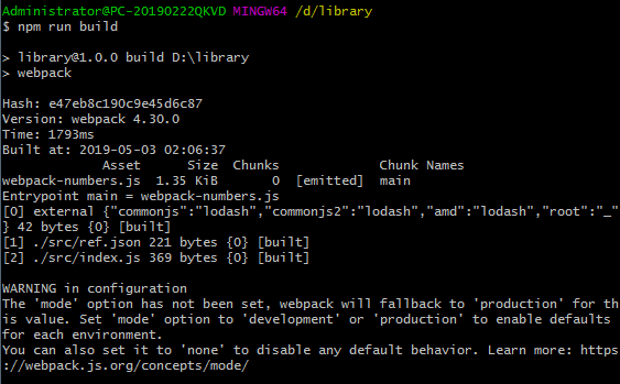webpack v4.30.0(11)官方指南说明文档 创建 library