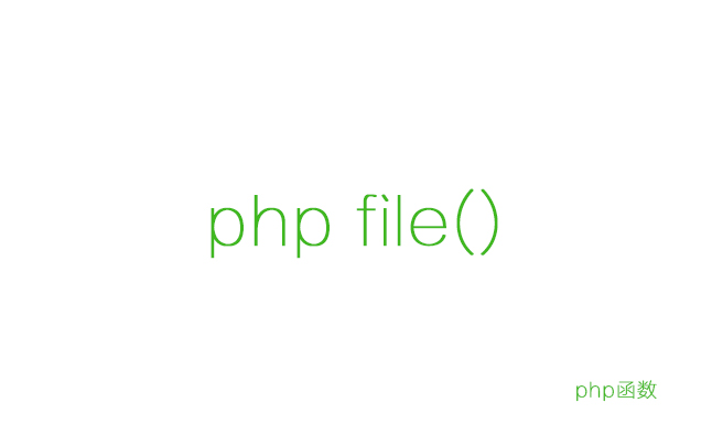 php file() 函数