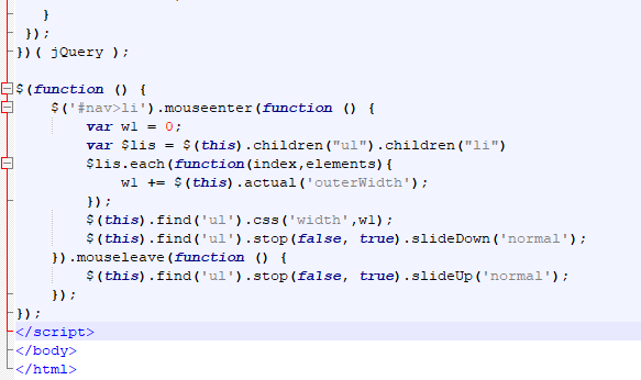 jQuery导航菜单下拉代码+jQuery 效果 - slideDown(),slideUp()方法